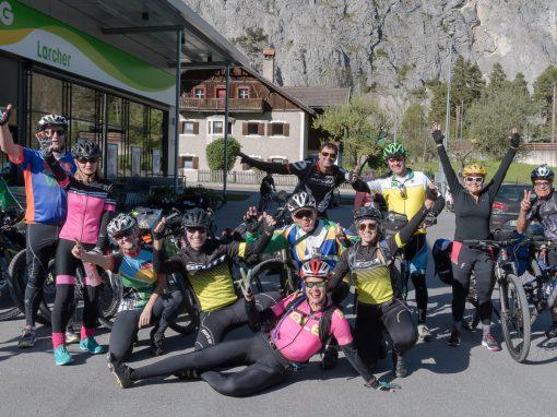 Radfahrer aus Brasilien auf Tour